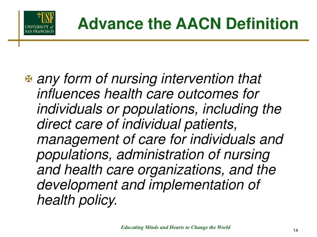 Advance the AACN Definition