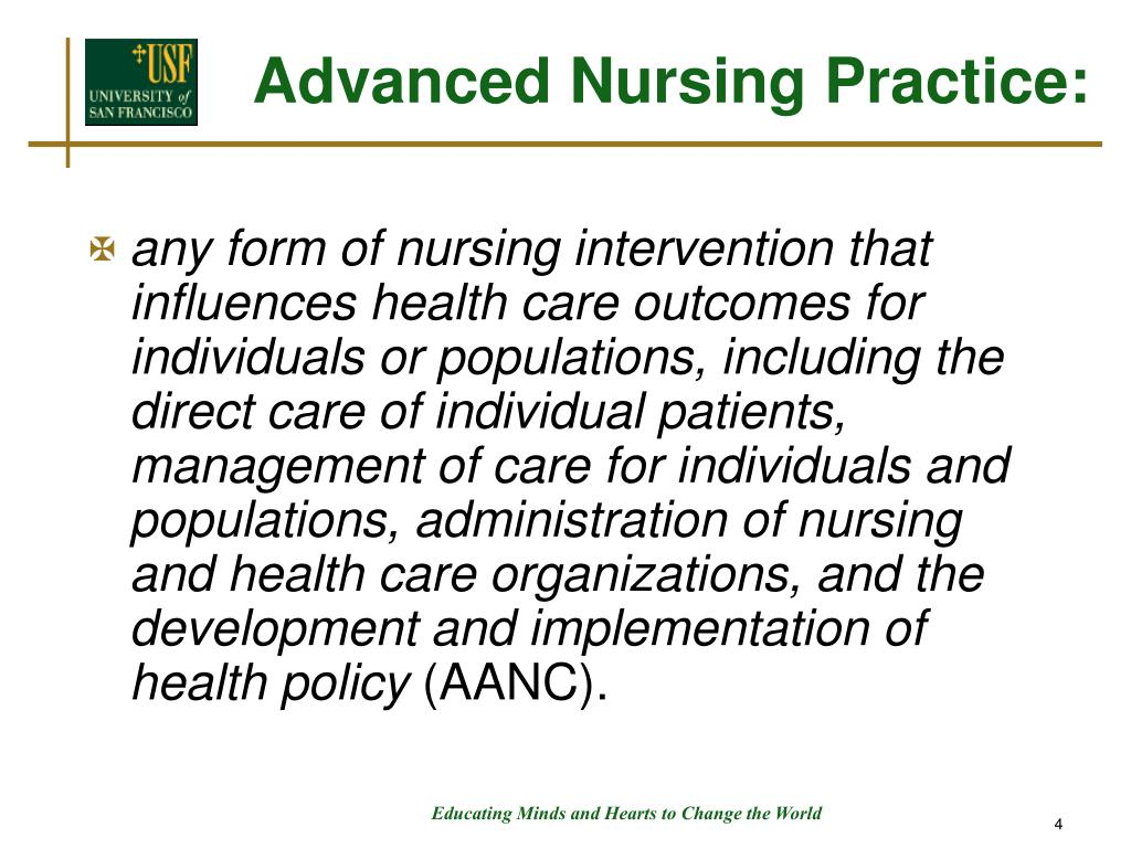 Advanced Nursing Practice: