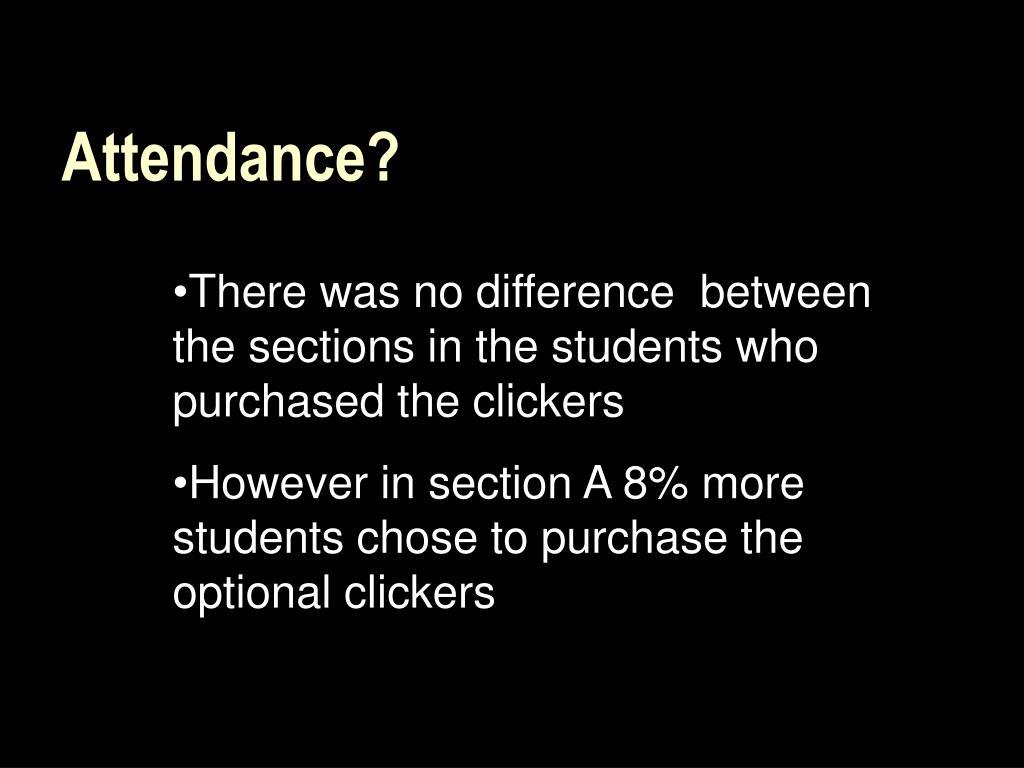 Attendance?