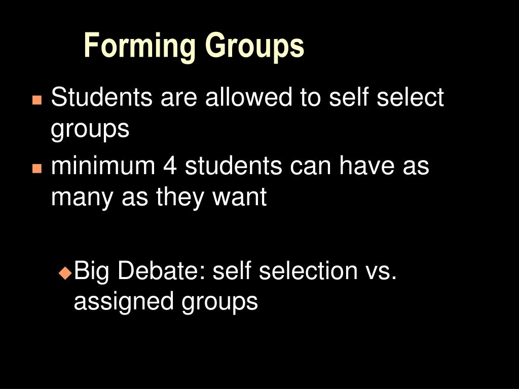 Forming Groups