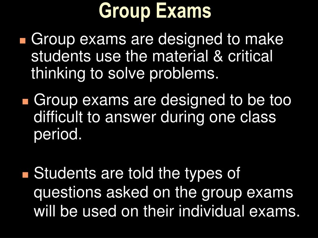 Group Exams