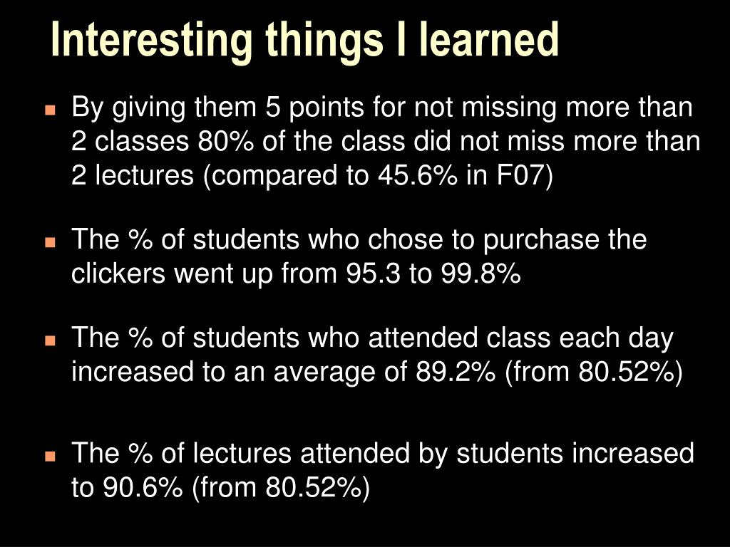 Interesting things I learned
