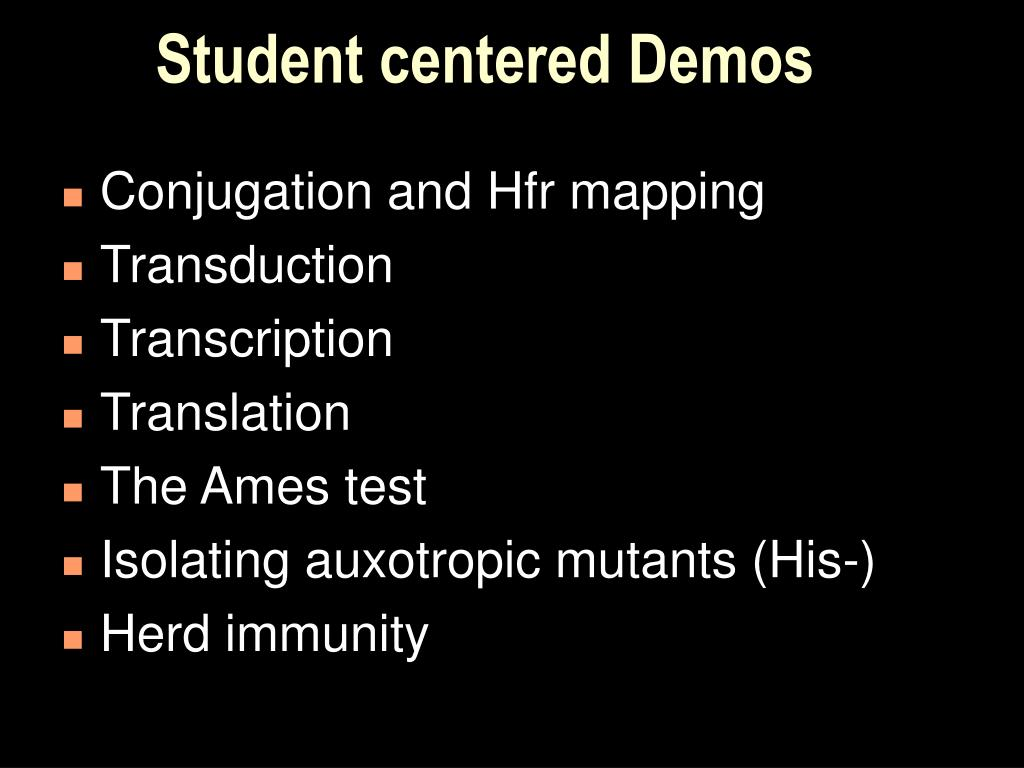 Student centered Demos