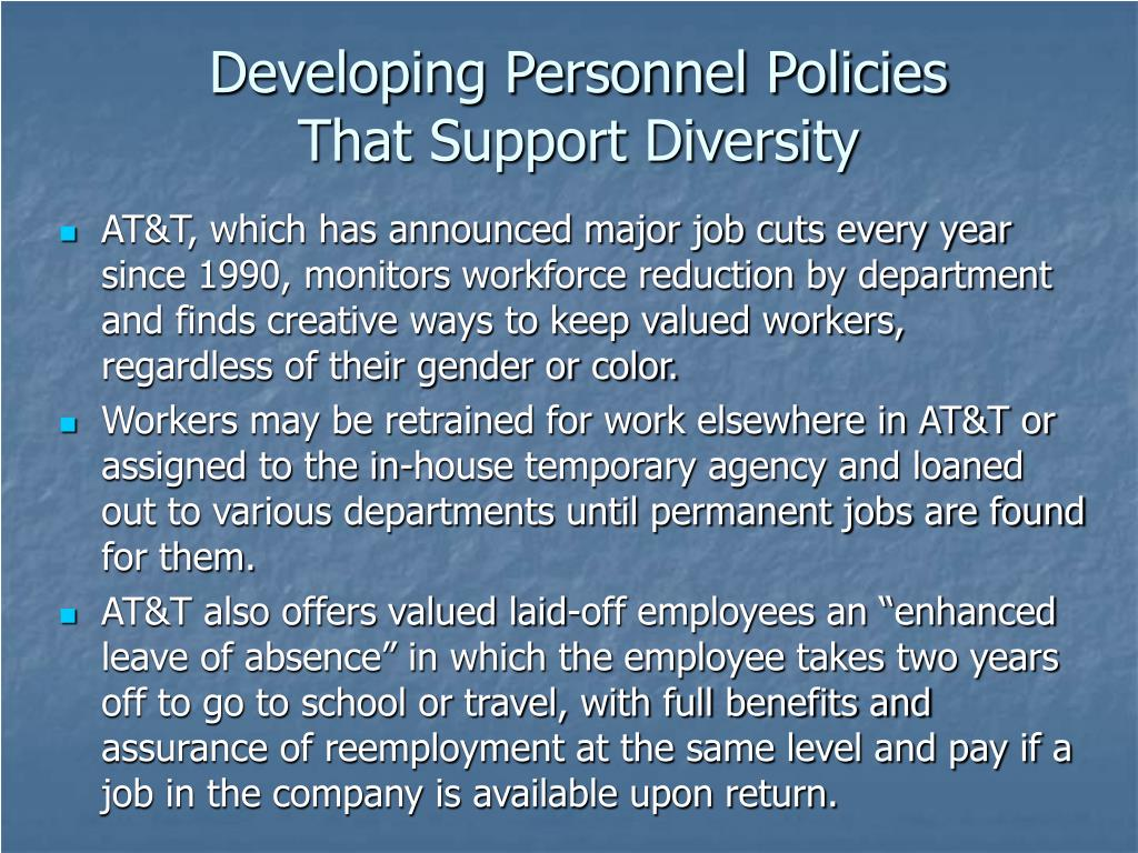 Developing Personnel Policies