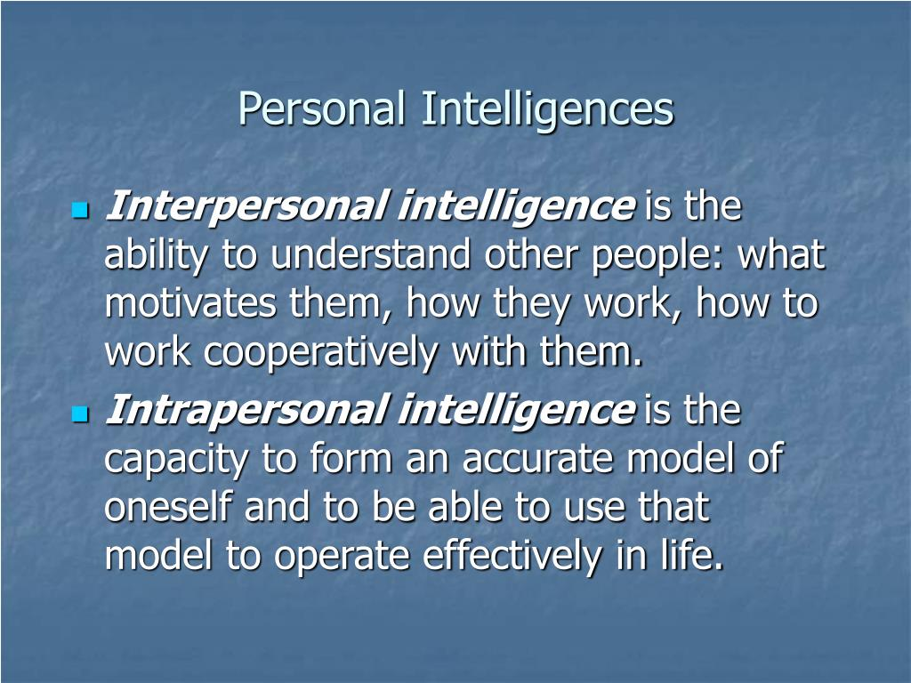 Personal Intelligences