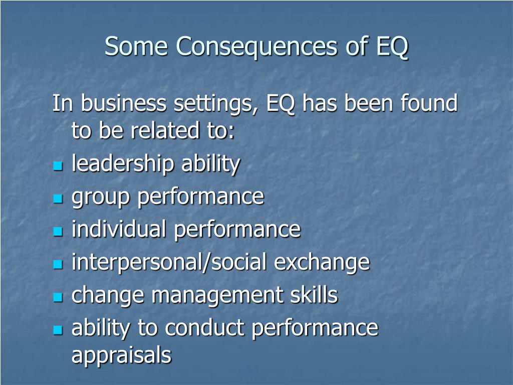 Some Consequences of EQ