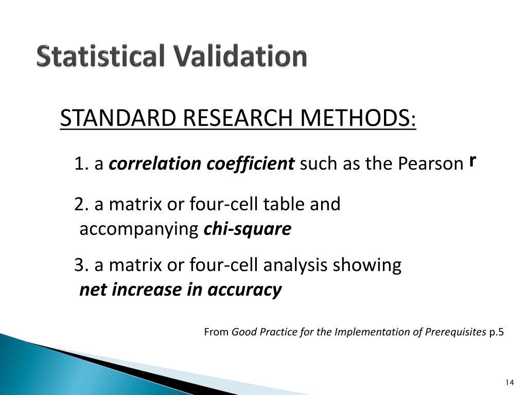 Statistical Validation