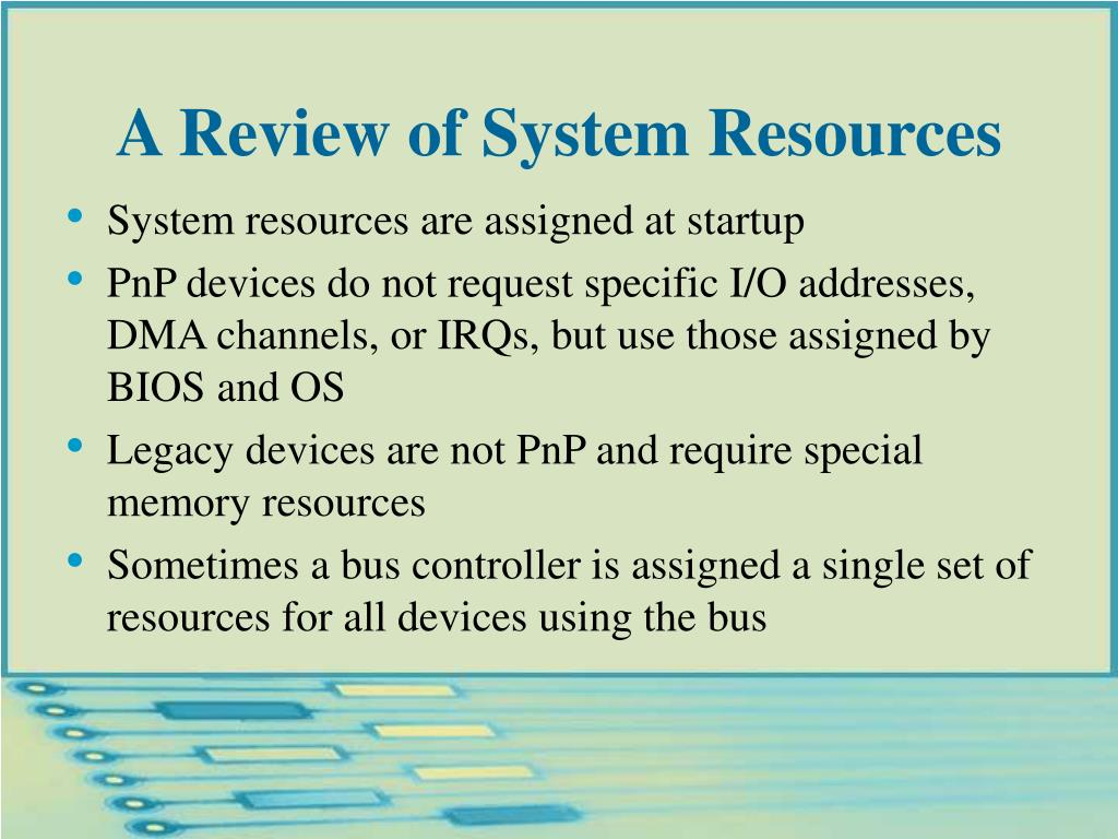 A Review of System Resources