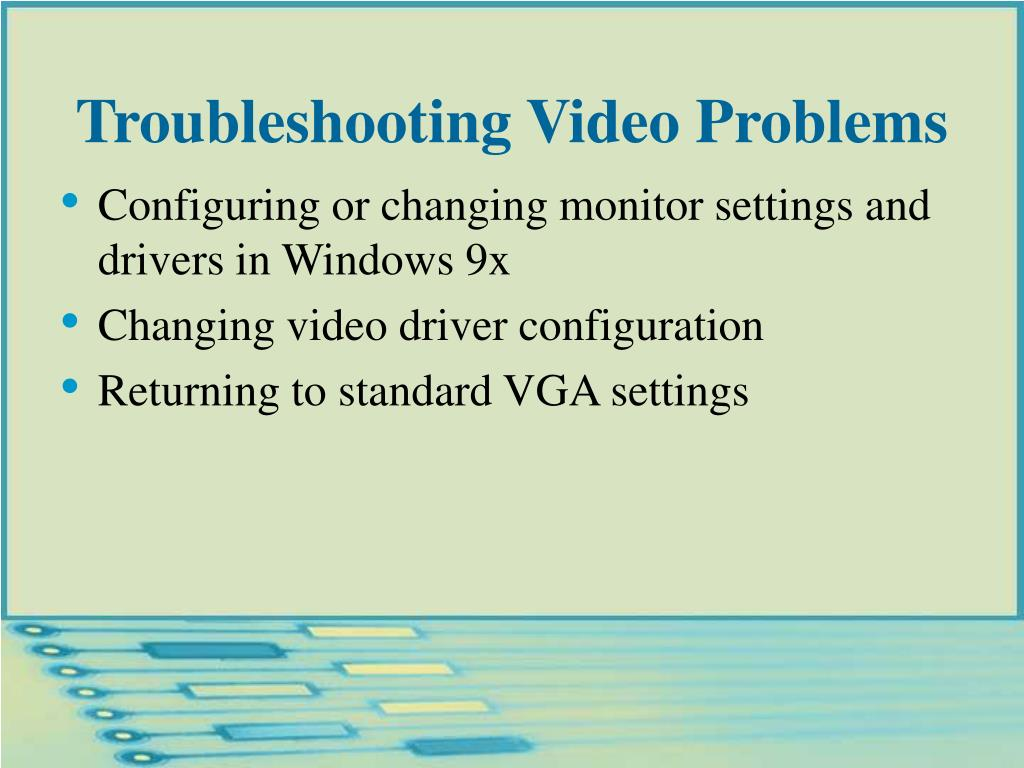 Troubleshooting Video Problems