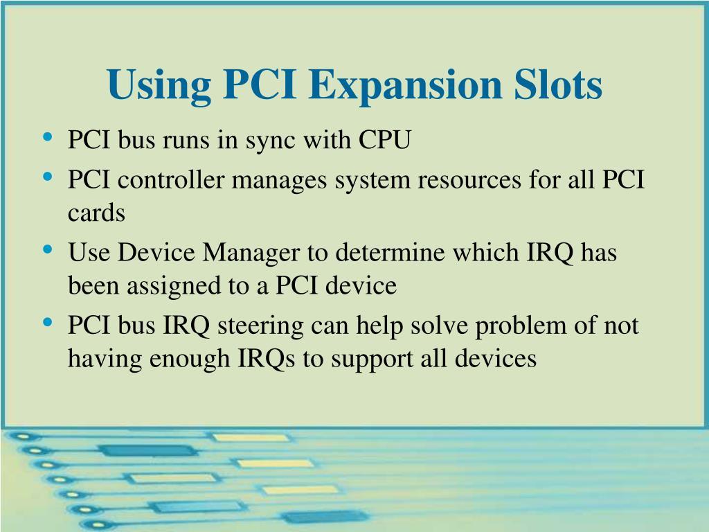 Using PCI Expansion Slots
