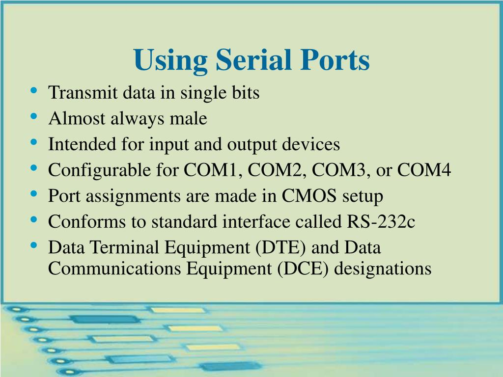 Using Serial Ports