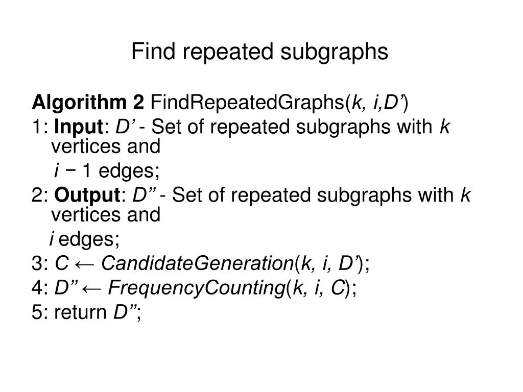 Find repeated subgraphs