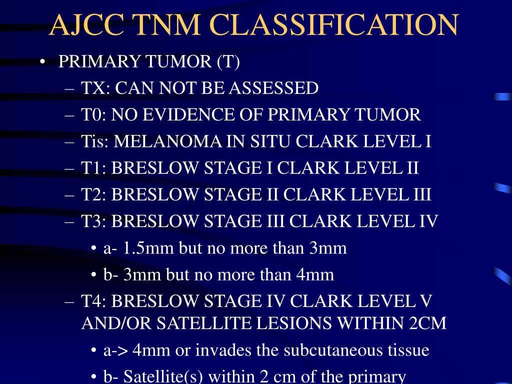 AJCC TNM CLASSIFICATION