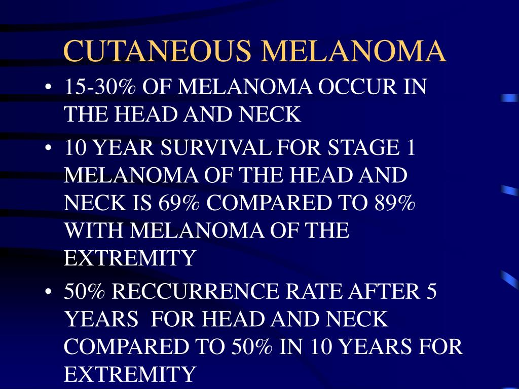 CUTANEOUS MELANOMA