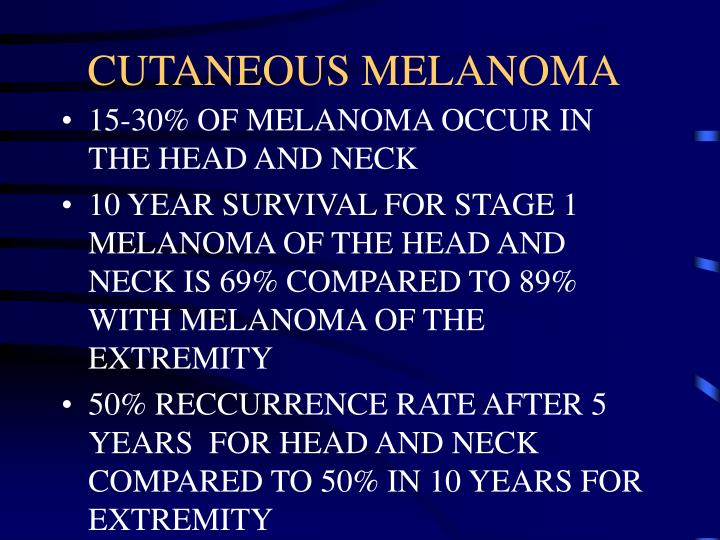 Cutaneous melanoma3