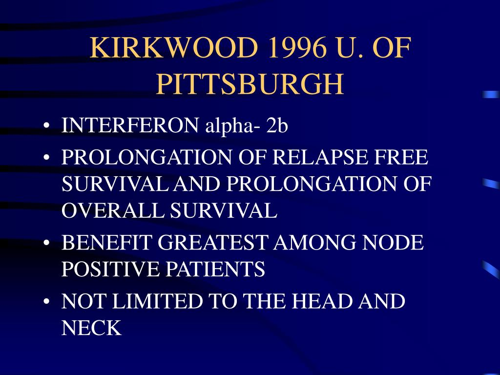 KIRKWOOD 1996 U. OF PITTSBURGH