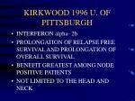 kirkwood 1996 u of pittsburgh