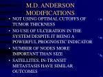 m d anderson modifications