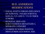m d anderson modifications24