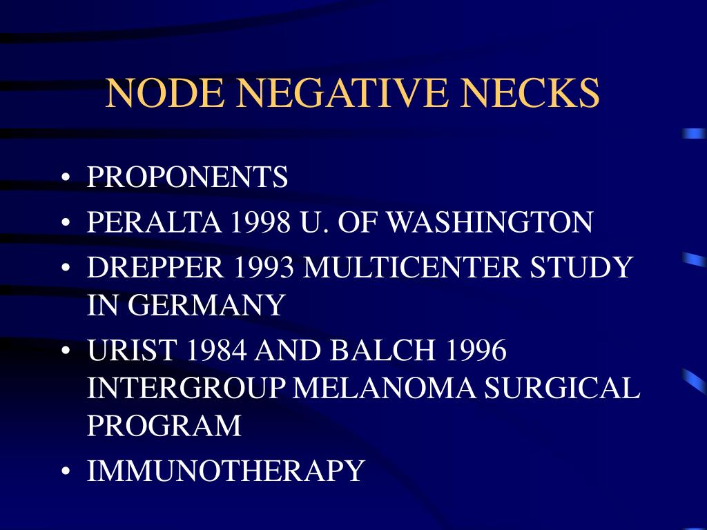 NODE NEGATIVE NECKS