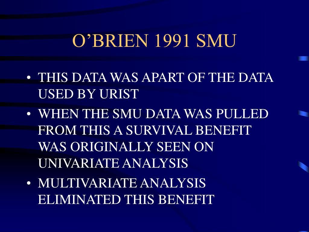 O'BRIEN 1991 SMU