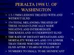 peralta 1998 u of washington