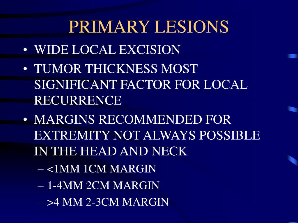 PRIMARY LESIONS