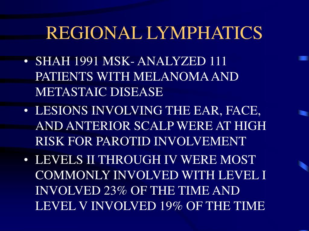 REGIONAL LYMPHATICS