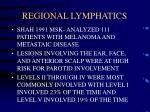 regional lymphatics