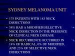 sydney melanoma unit