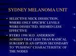 sydney melanoma unit32