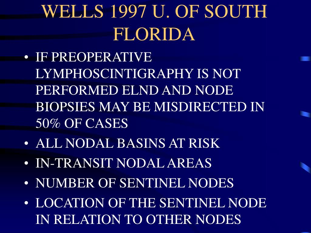 WELLS 1997 U. OF SOUTH FLORIDA