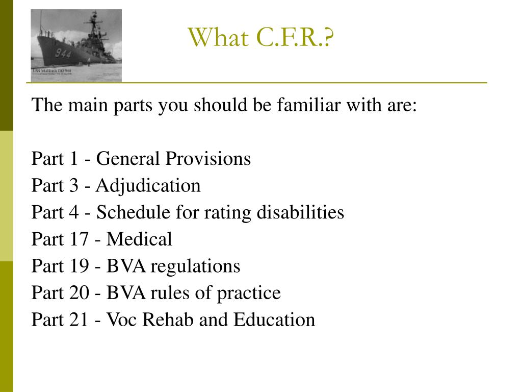 What C.F.R.?