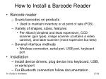 how to install a barcode reader