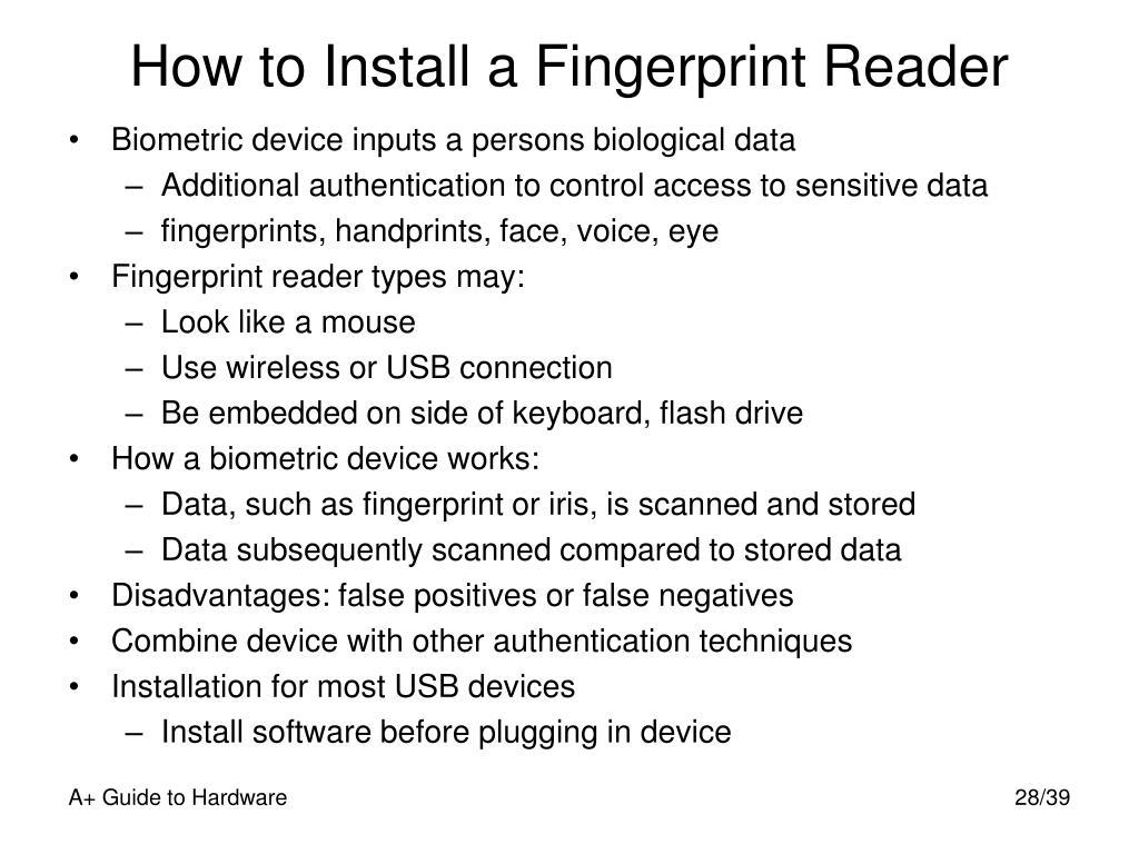 How to Install a Fingerprint Reader