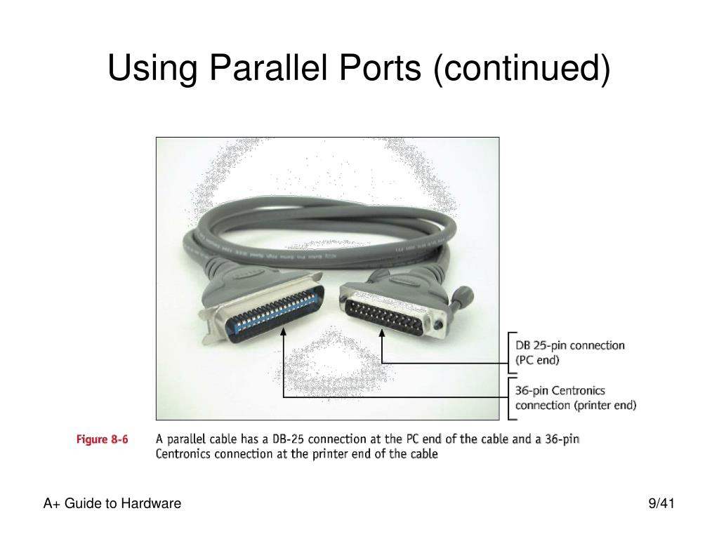 Using Parallel Ports (continued)