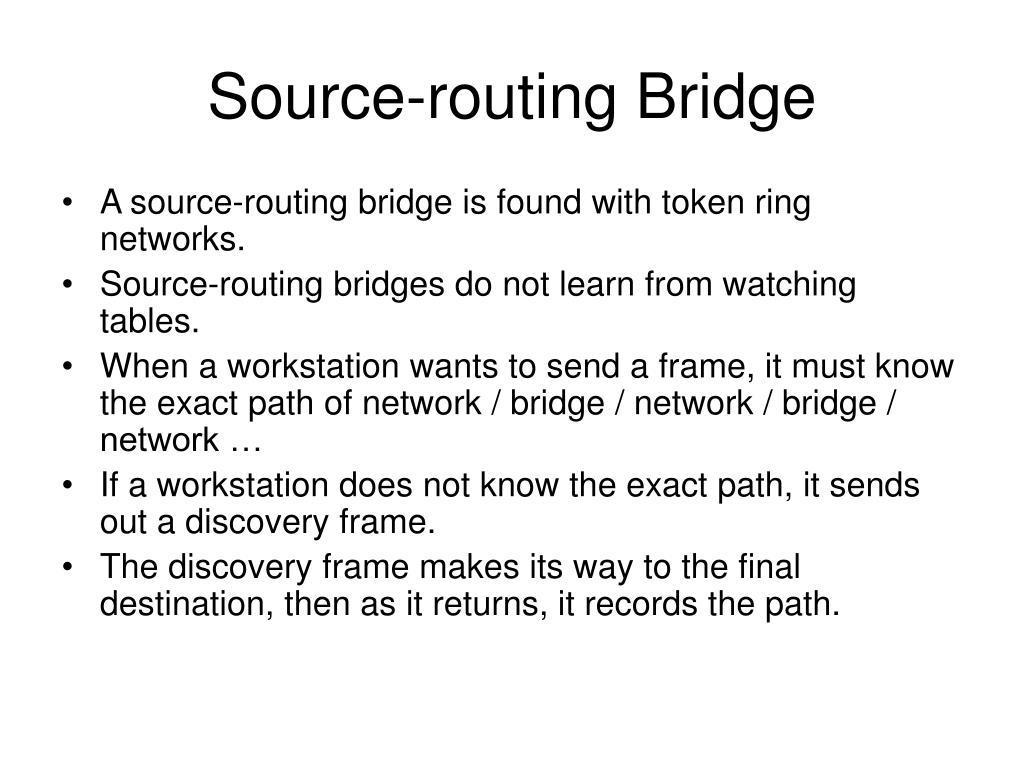 Source-routing Bridge
