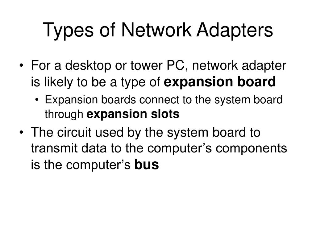 Types of Network Adapters