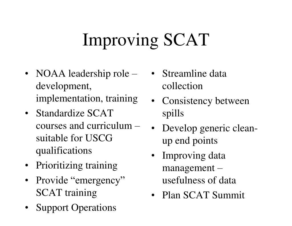 Improving SCAT