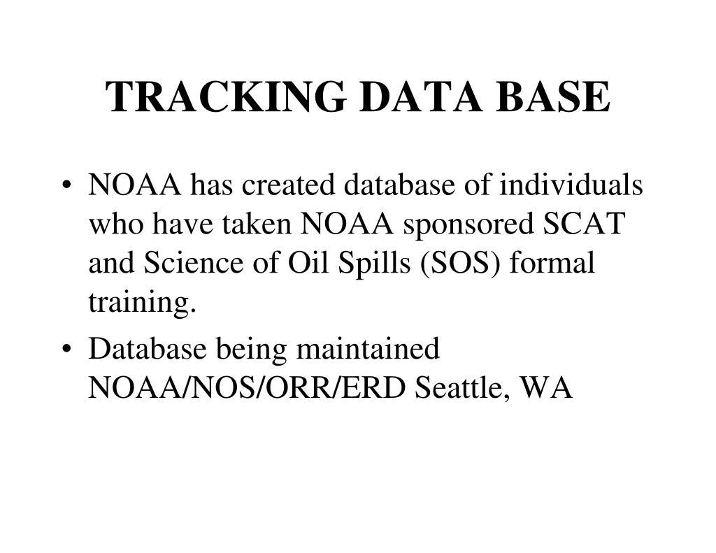 TRACKING DATA BASE