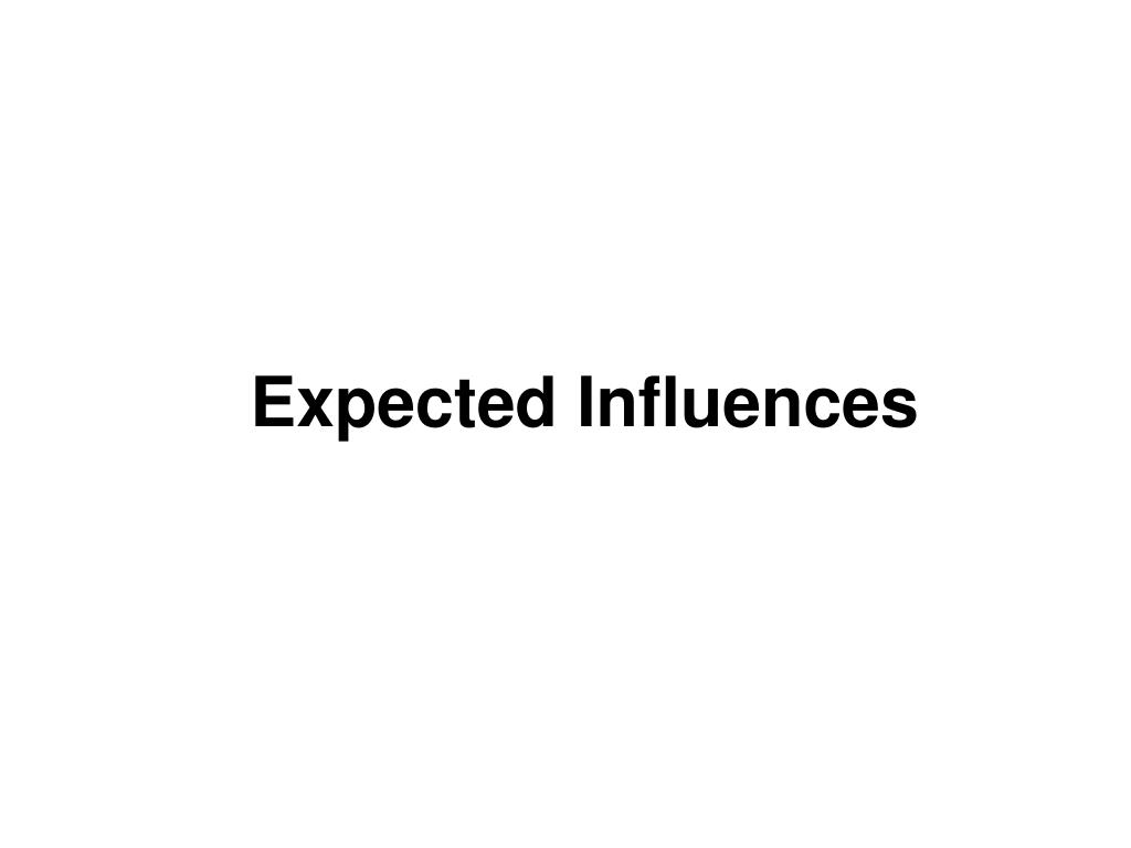 Expected Influences