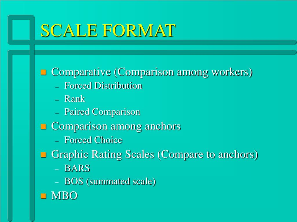SCALE FORMAT