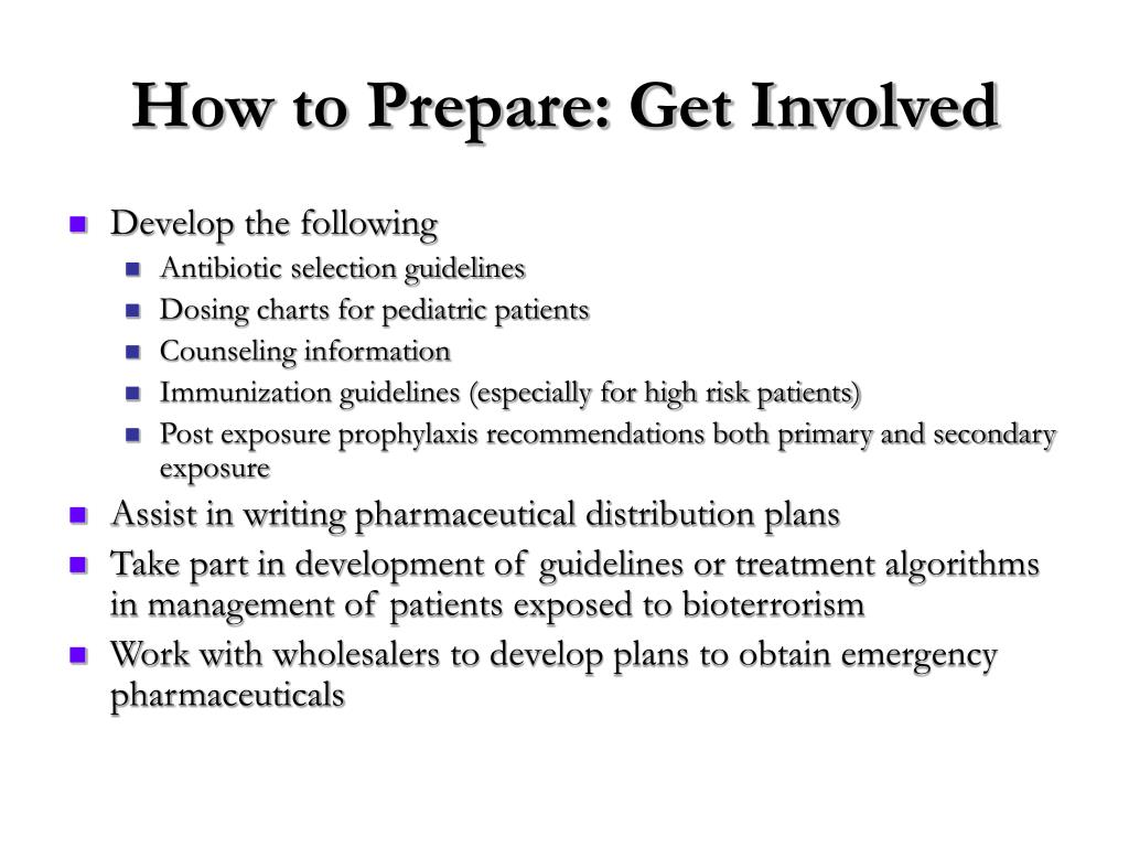How to Prepare: Get Involved