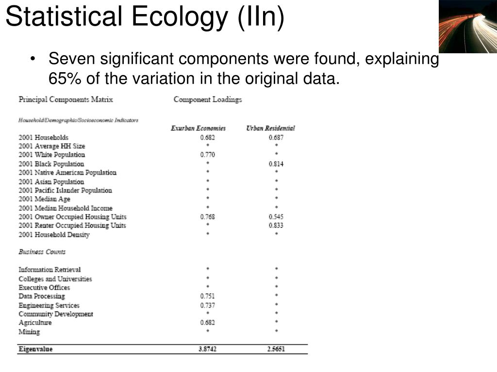Statistical Ecology (IIn)