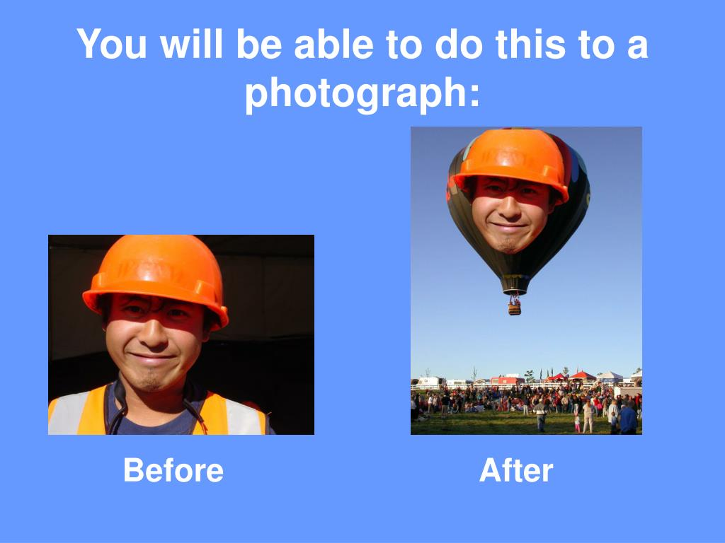 You will be able to do this to a photograph: