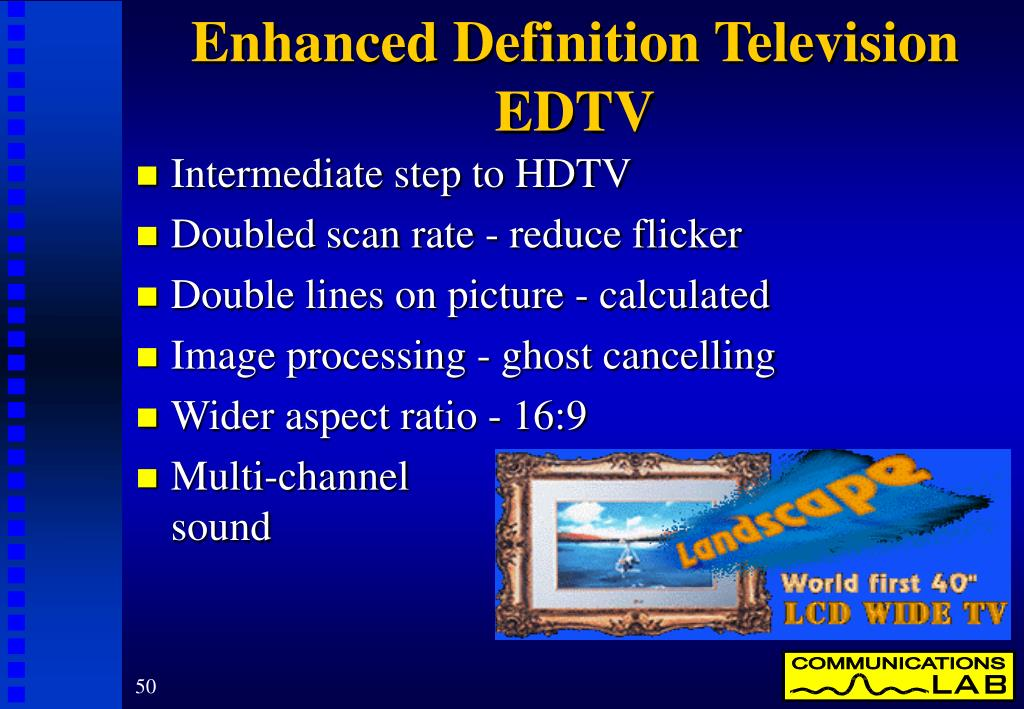 Enhanced Definition Television EDTV