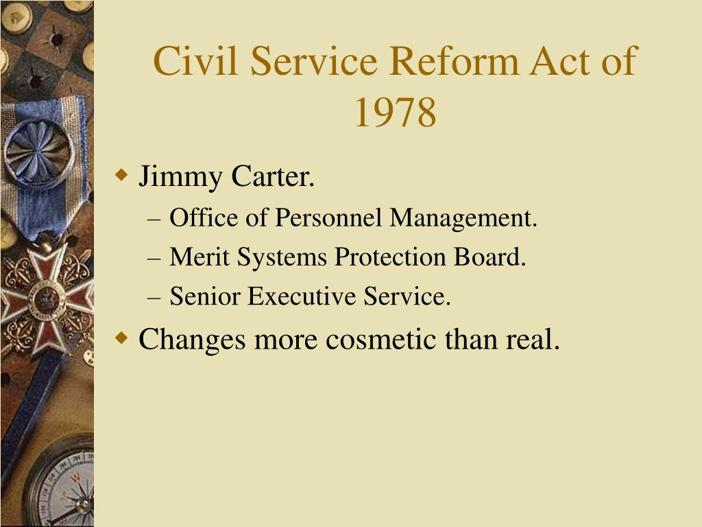 Civil Service Reform Act of 1978