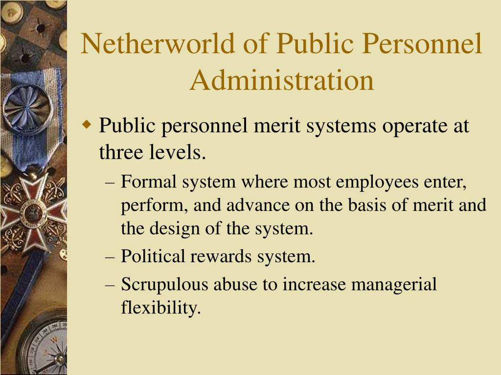 Netherworld of Public Personnel Administration