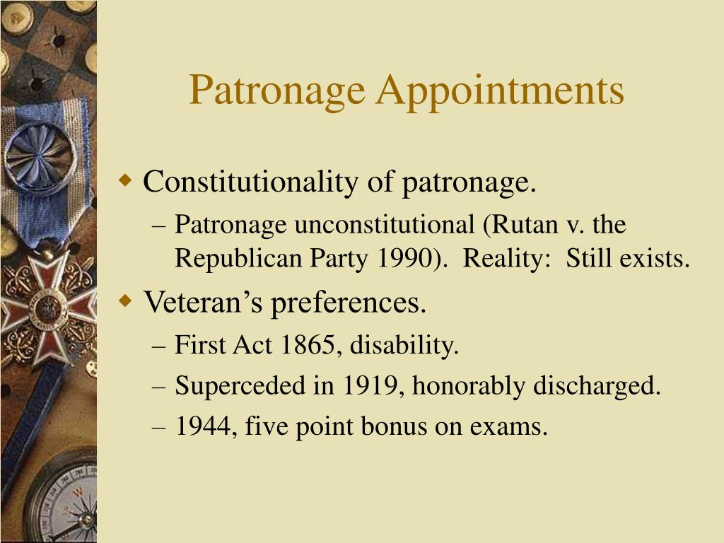 Patronage Appointments