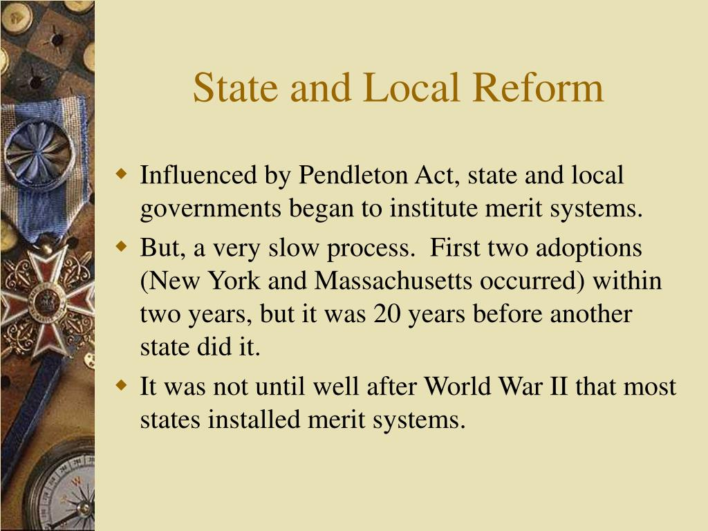 State and Local Reform